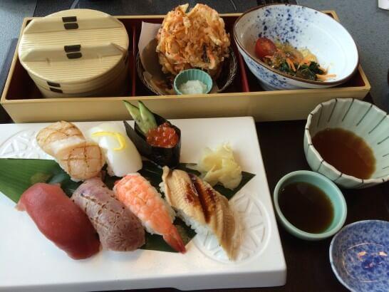かごの屋のにぎり寿司ランチ