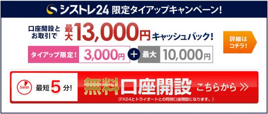 シストレ24限定タイアップキャンペーン