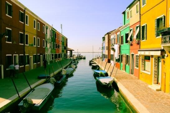 外国の運河