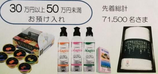 ゆうちょ銀行キャンペーンの50万円以上の景品