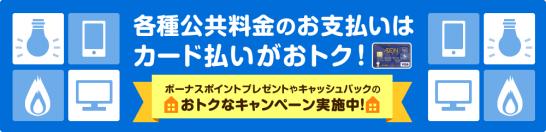 イオンカードの公共料金(電気・ガス・携帯電話・放送料金)カード払いキャンペーン