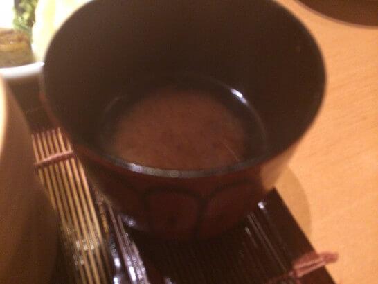 界伊東の夕食の味噌汁
