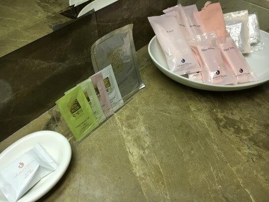 ホテルオークラ東京ベイのデラックスルームのアメニティ