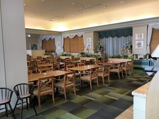 ホテルオークラ東京ベイのカフェテラス