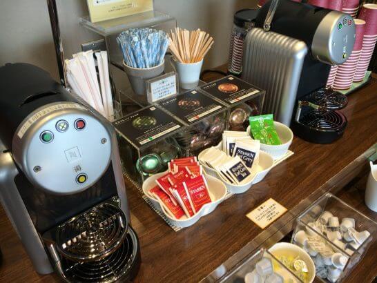 D's ラウンジトーキョーのコーヒーマシン