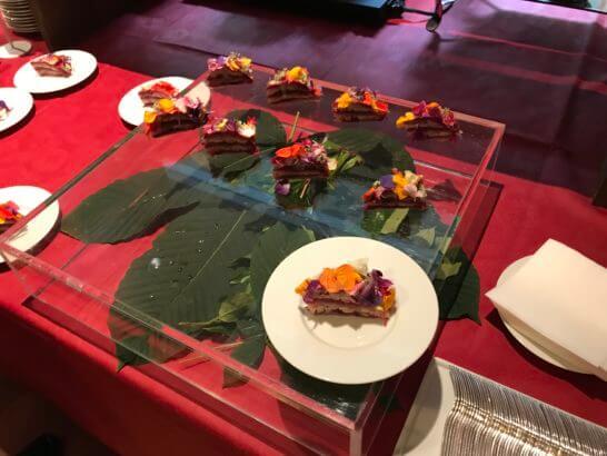 ダイナースクラブ フランスレストランウィーク2017のレセプションの食事