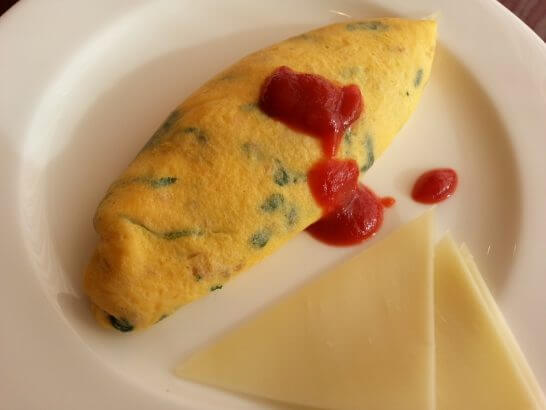 ヒルトン小田原の朝食のオムレツ