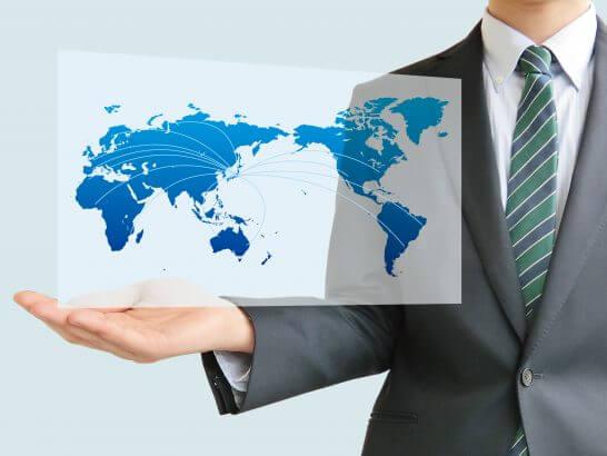 世界を手中にするイメージ図