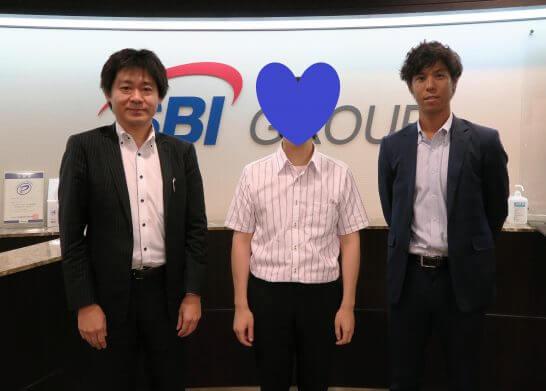 まつのすけとSBI証券 杉本さん、稲葉さん
