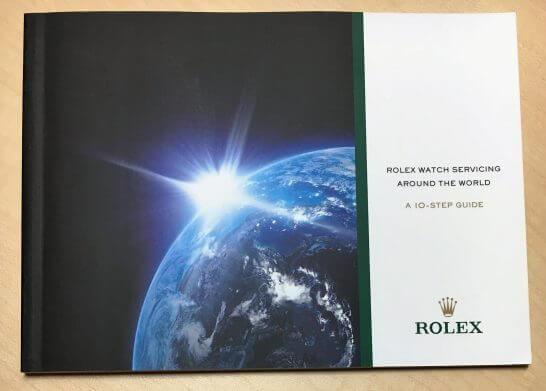 ロレックスの修理内容が説明された冊子