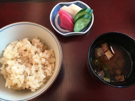 日本料理「はなの」の「なでしこ」のご飯・香の物・汁