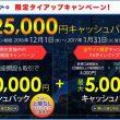 セントラル短資の25,000円キャッシュバックキャンペーン(2017年1月末まで)
