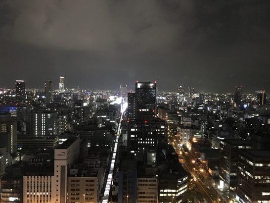 セントレジスホテル大阪の夜景