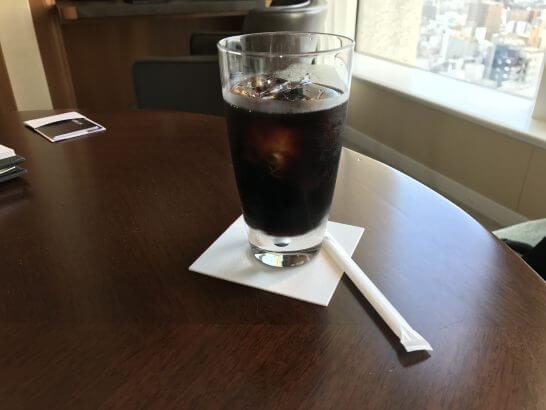 セントレジスホテル大阪のアイスコーヒー