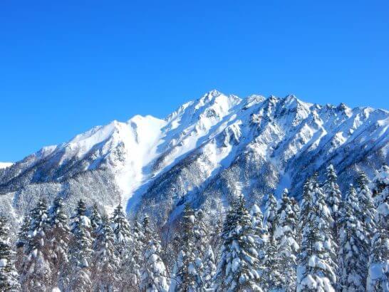 飛騨・北アルプスの雪景色