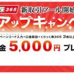 限定タイアップキャンペーンで5,000円プレゼント!岡三オンライン証券のくりっく株365が激熱