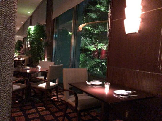 シェラトン都ホテル東京の四川の店内