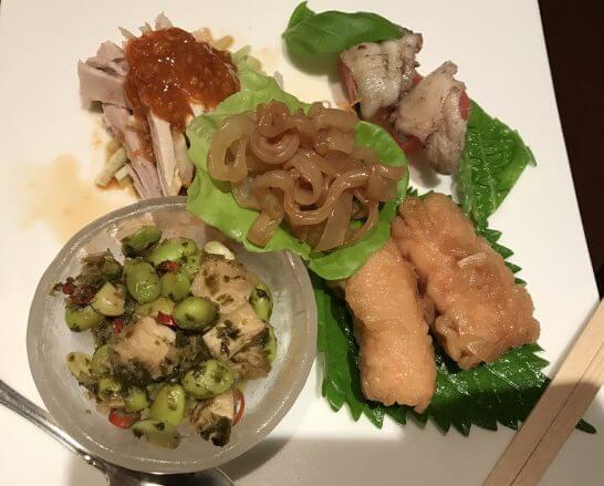 シェラトン都ホテル東京の四川の冷菜盛り合わせ