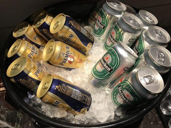 東京マリオットのカクテルタイムのビール