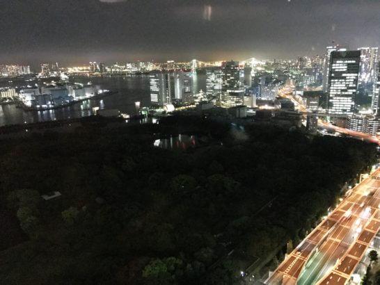 コンラッド東京のチャイナブルーの夜景