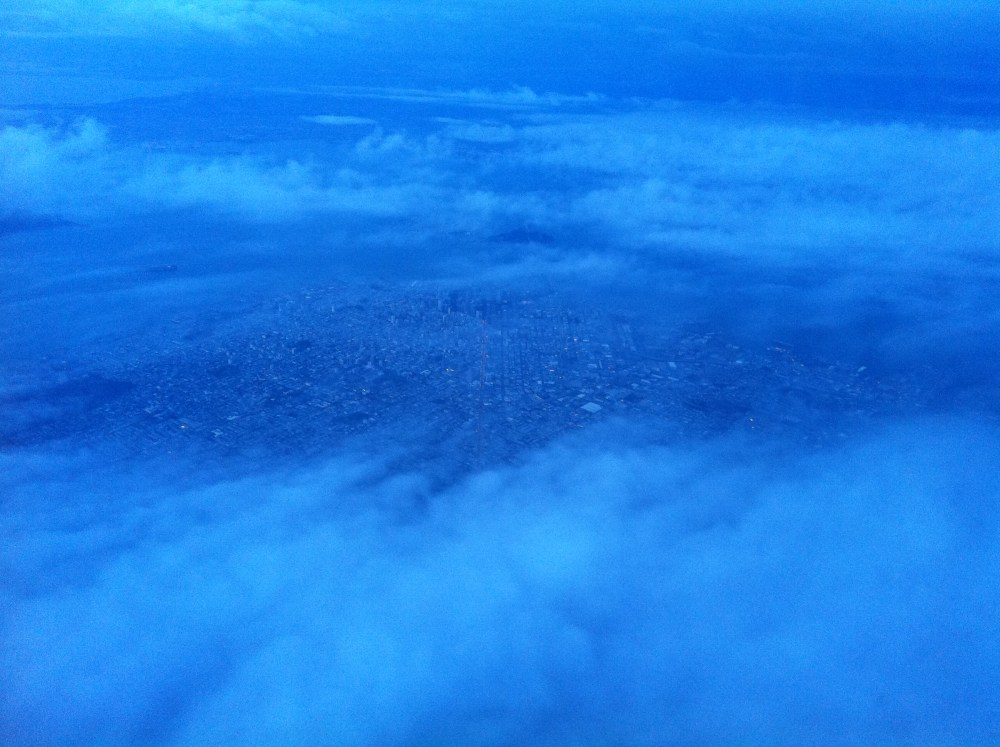 San Francisco through the clouds