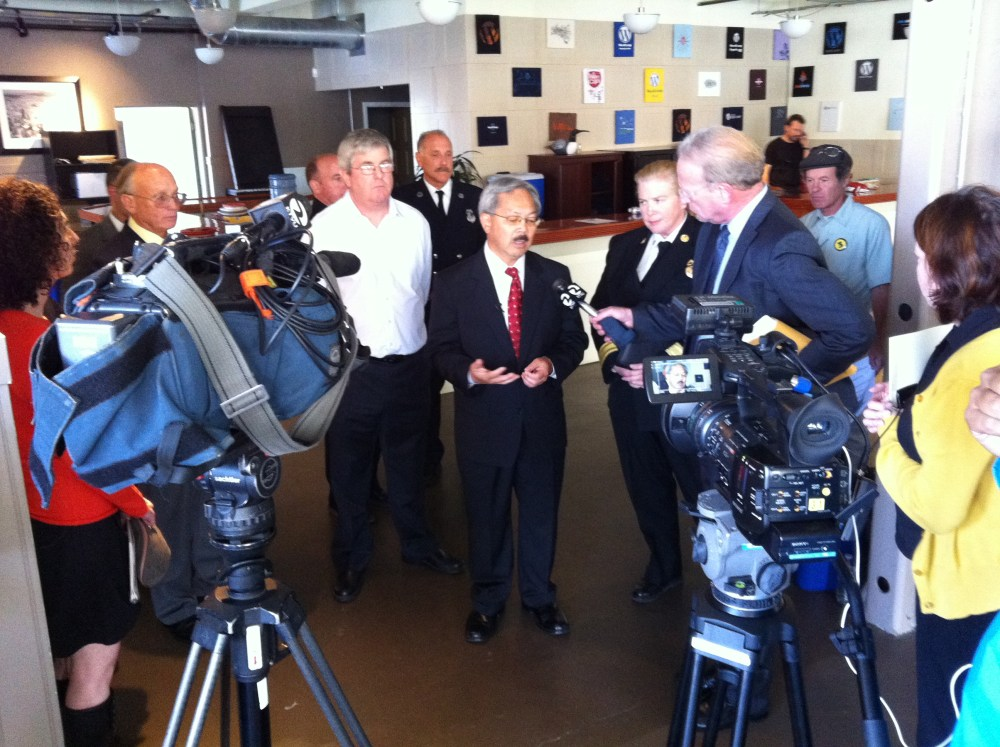 Mayor Edwin Lee in our office, saying how unsafe it is to be here