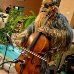 A Wookiee playing a cello? Yes. A Wookiee. Playing a cello.
