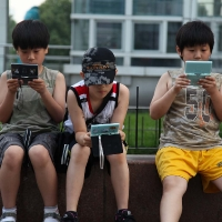 Chinese children playing together