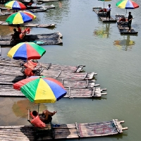 Boats in Yangshuo