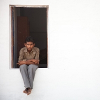 Boy at the window, Bikaner