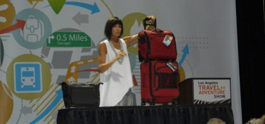 Bigbee showing a method of travelling lightly with luggage