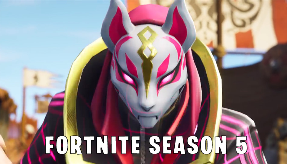 Fortnite Season 5 is HERE  Map Changes  Rifts  Desert Biome and More     Fortnite Season 5 Kitsune