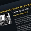 Scott Alan concert, New Players Theatre (website snapshot)