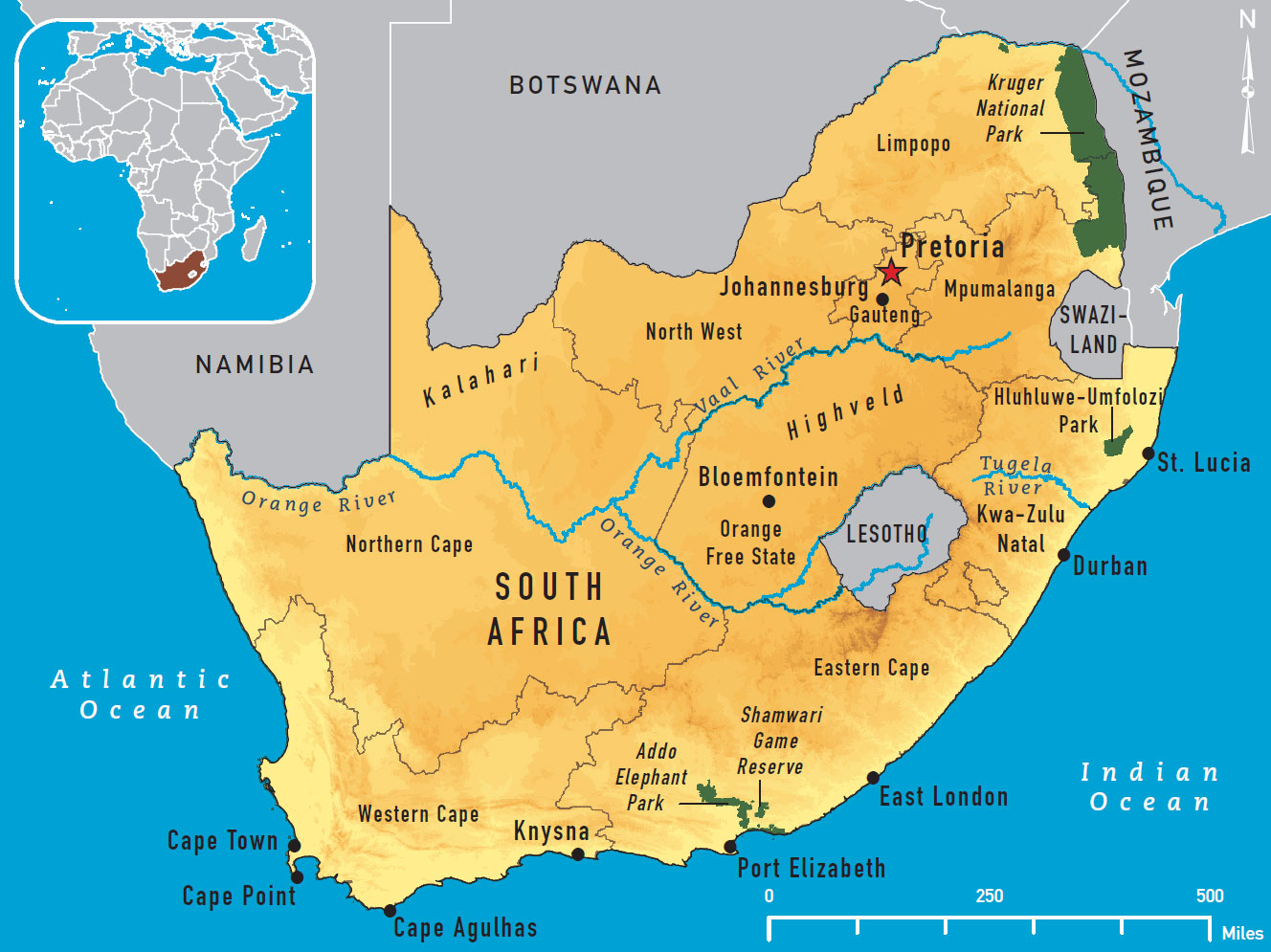 map south african
