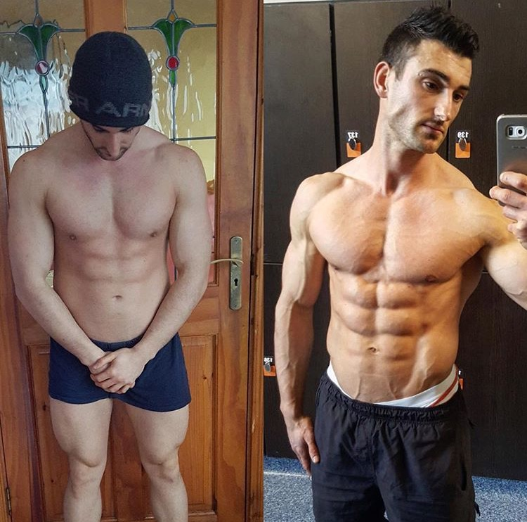 Online personal trainer helping young male get shredded for physique competition