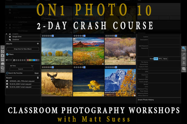 ON1 Photo 10 Crash Course Classroom Photography Workshops