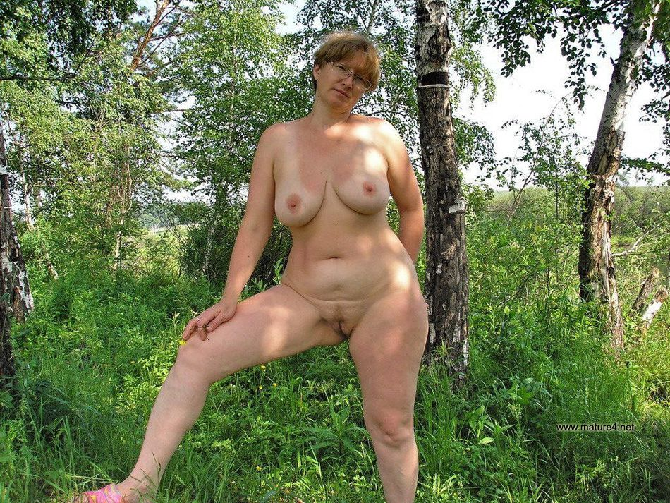 chubby mature nude outdoor