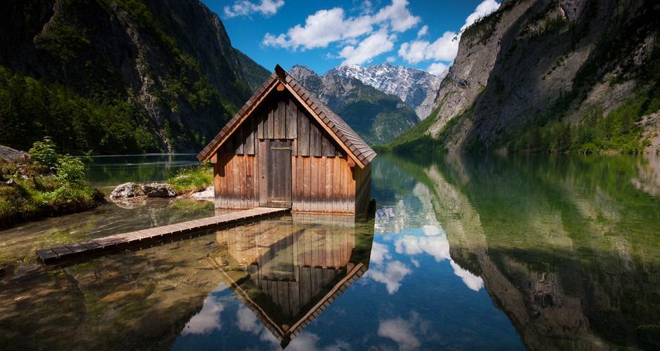 Bootshaus Obersee Berchtesgadener Land Slider