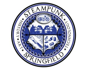 Steampunk Springfield city seal