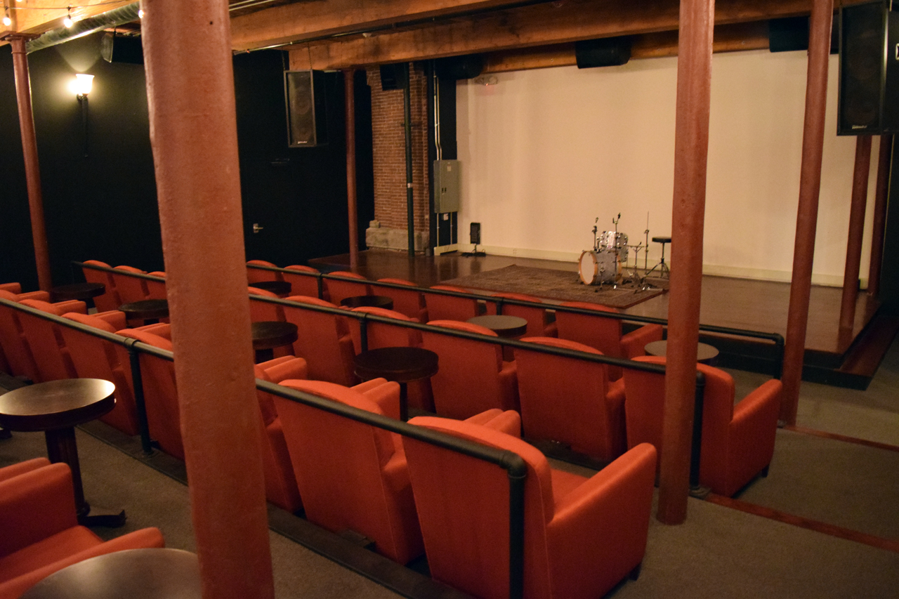 Inside the Luna Theater, Lowell's only indie cinema