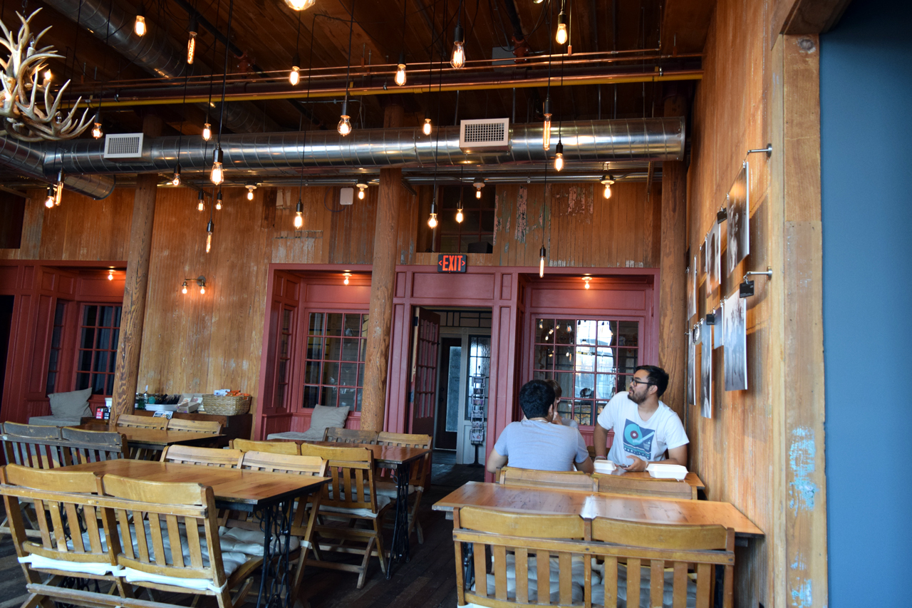 Inside the Coffee and Cotton Cafe