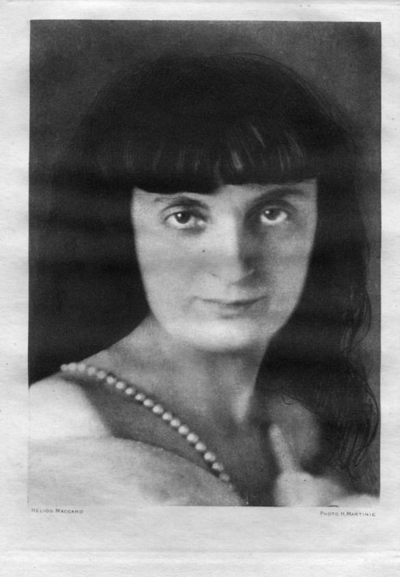 Anna de Noailles dans l'édition du Romantisme féminin de 1926