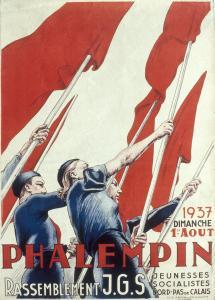 La jeunesse socialiste en 1937.