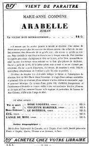 Publicité parue dans la NRF du 1er nov. 1934.