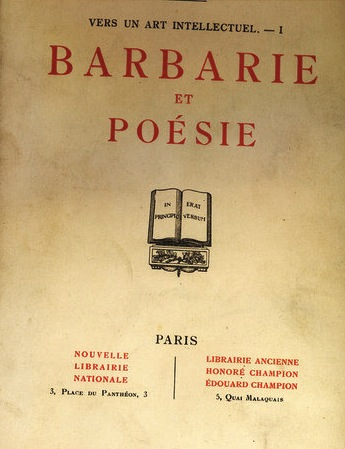 Barbarie et Poésie, Maurras