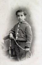 1877 - Photographie de Charles Maurras enfant, Marseille 1877