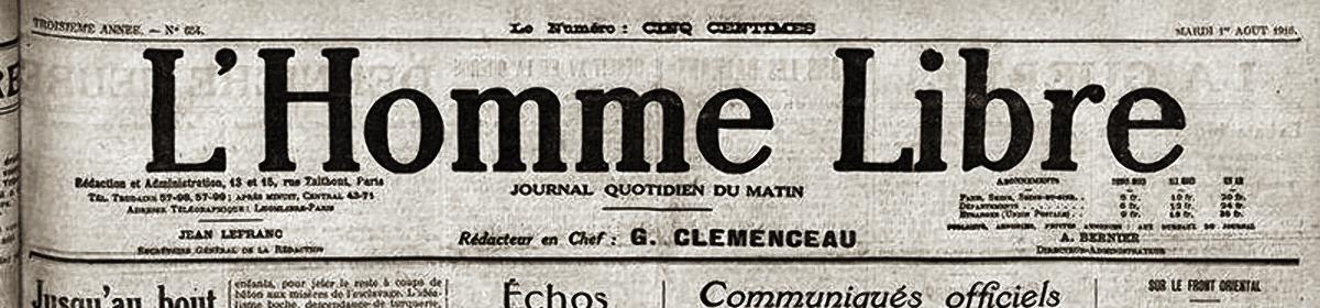 L'homme libe de Clemneceau