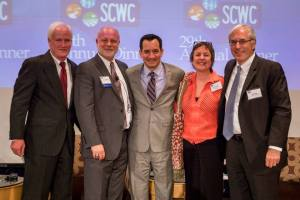 Richard Atwater, Charles Wilson, Assm. Anthony Rendon, Ellen Hanak, Joe Caves Photo courtesy of the Southern California Water Committee