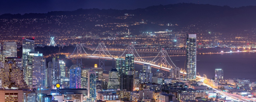 Bay Area at Night sliderbox by Stephen Wu