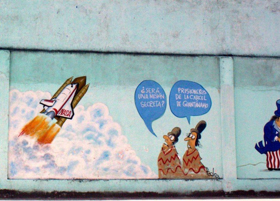 US bashing graffiti